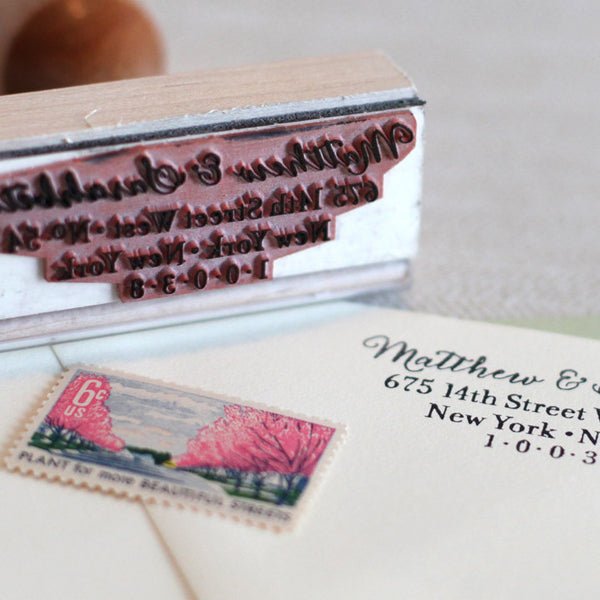 Calligraphy Return Address Stamp The Chatty Press