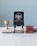 self inking or wood handle address stamps from the chatty press, which stamp to choose. modern address stamps that are interchangeable