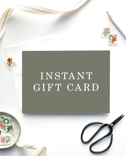 Digital Instant Gift Card