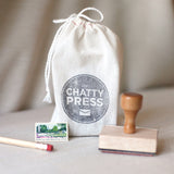 custom address stamp gift packaging wrapping