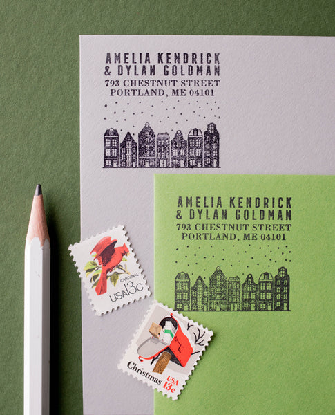 Holland Houses Christmas Address Stamp