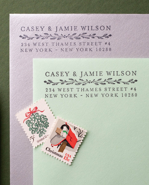 Classic Christmas Address Stamp