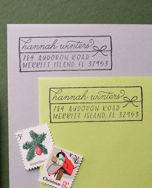 Christmas Present Long Address Stamp