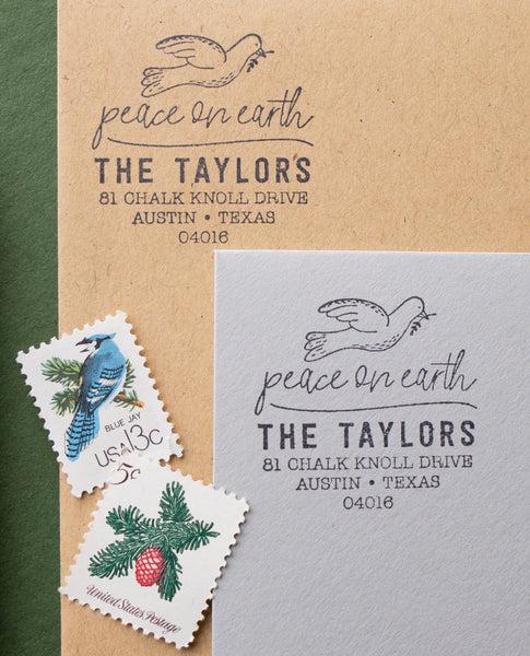 Peace Dove Address Stamp