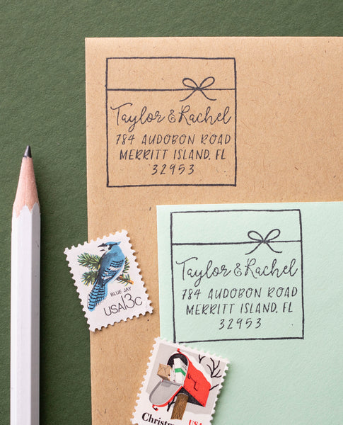 Wrapped Gift Address Stamp