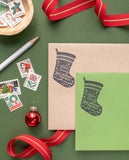 Christmas Stocking Address Stamp
