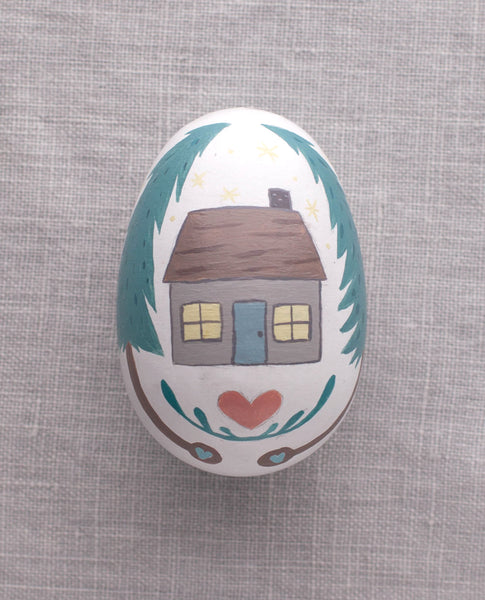 Cottage - Painted Egg