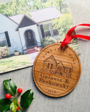 Custom Illustrated Home Portrait Christmas Ornament