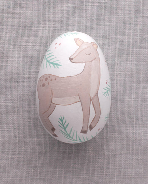 Deer - Painted Egg