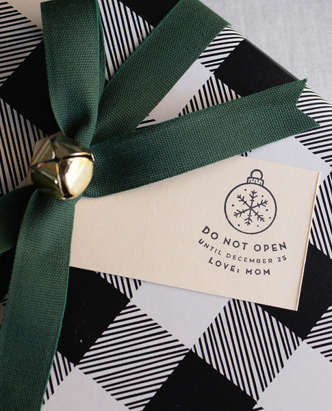 Do Not Open Until Christmas Gift Tag Stamp