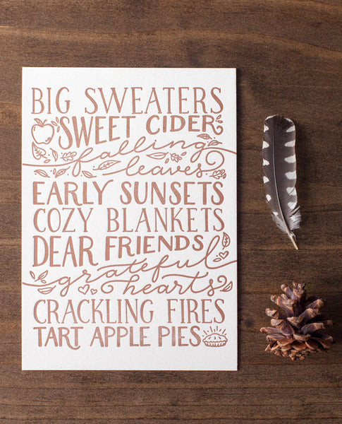 big sweaters falling leaves fall quote