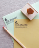 forest trees return address stamper for your wedding stationery and invitations