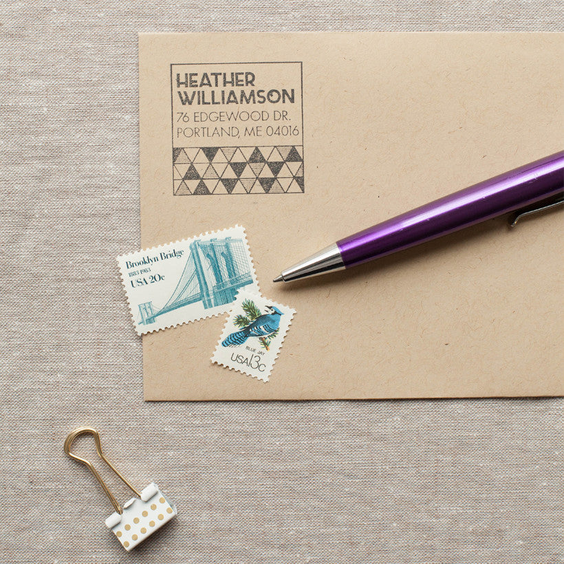 Geometric Triangles Self-inking Stamp