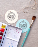 Handmade by Personalized Stamp