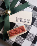 Handmade By Personalized Stamp- Modern