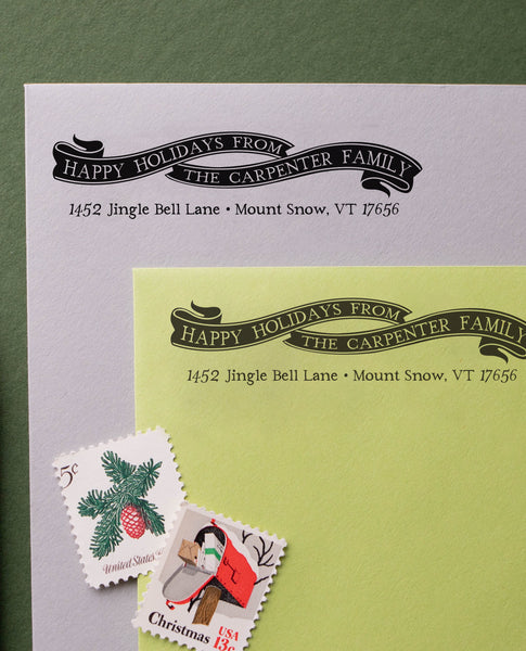 Happy Holidays Address Stamp