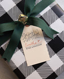 Happy Holidays Calligraphy Gift Tag Stamp