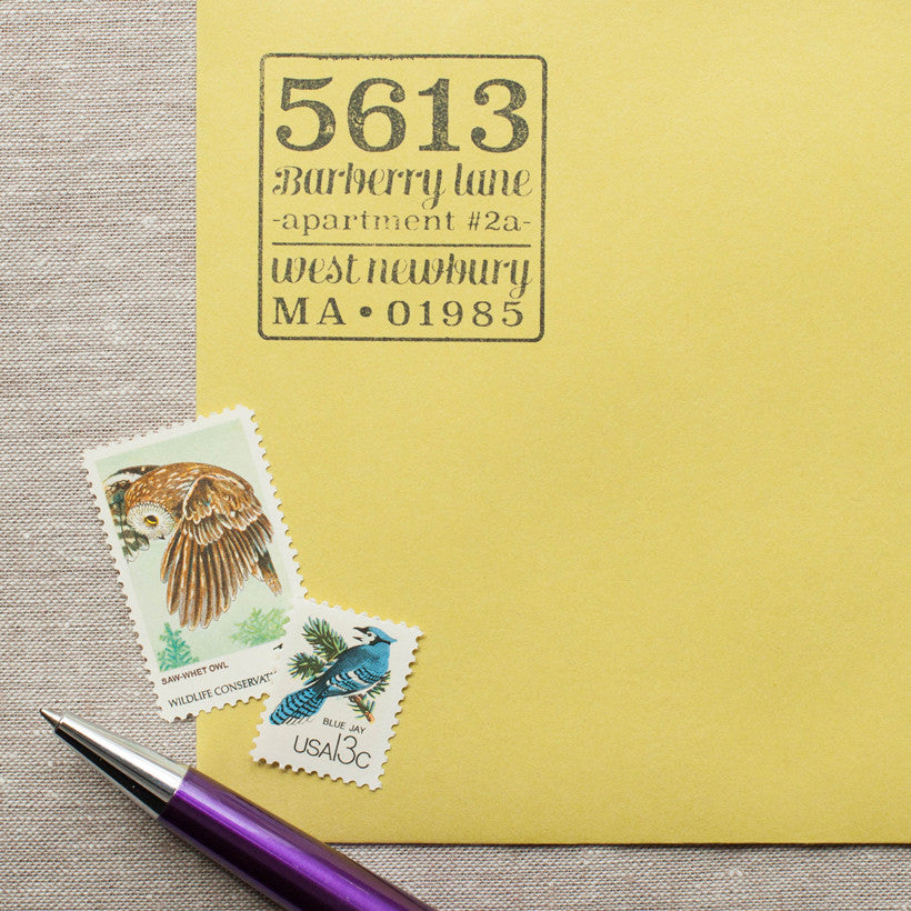 House Number Self-inking Stamp
