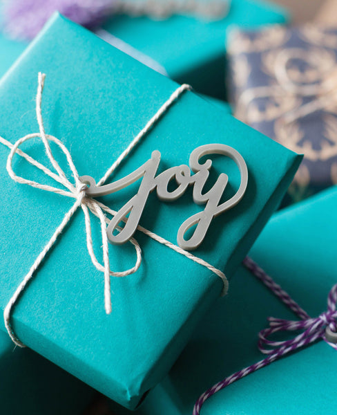 oh joy christmas gift tag silver calligraphy