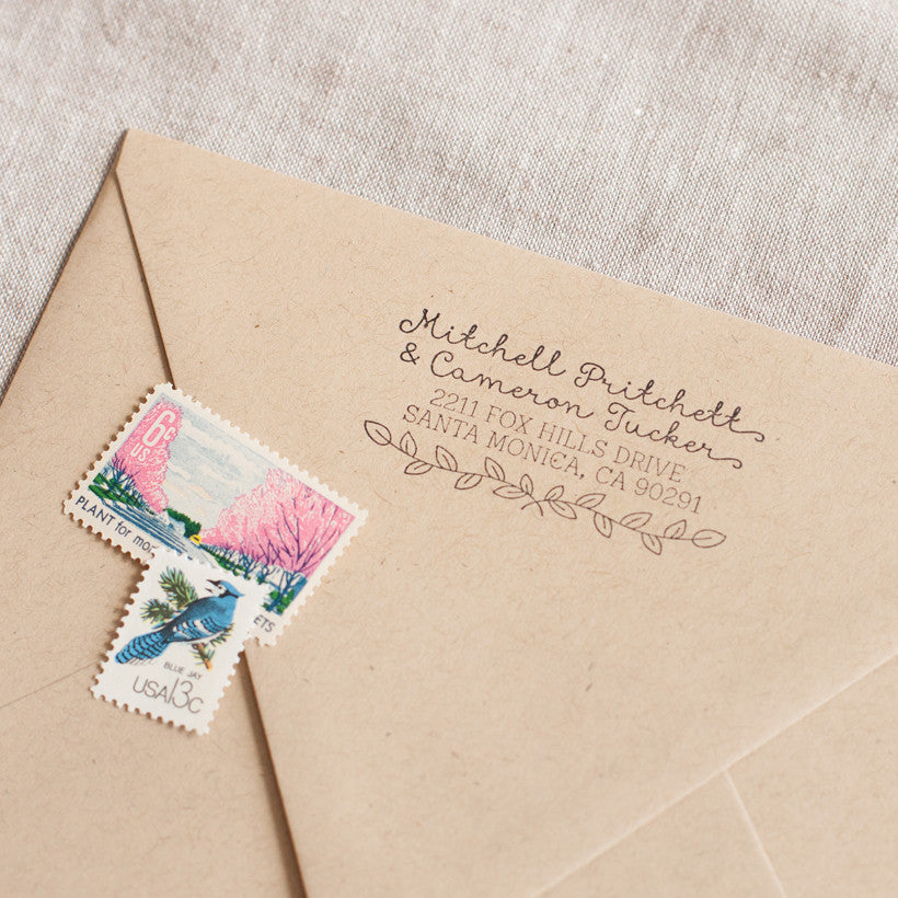 Laurel Leaf Address Stamp