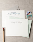 Personalized Letterpress Notecards - Name & Greeting