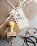 Love and Light Hanukkah Gift Tag Stamp