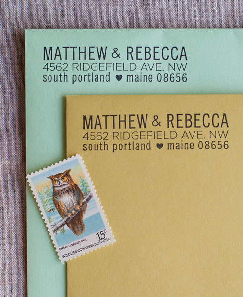 love your state address stamp the chatty press