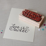 chatty press love is sweet stamp