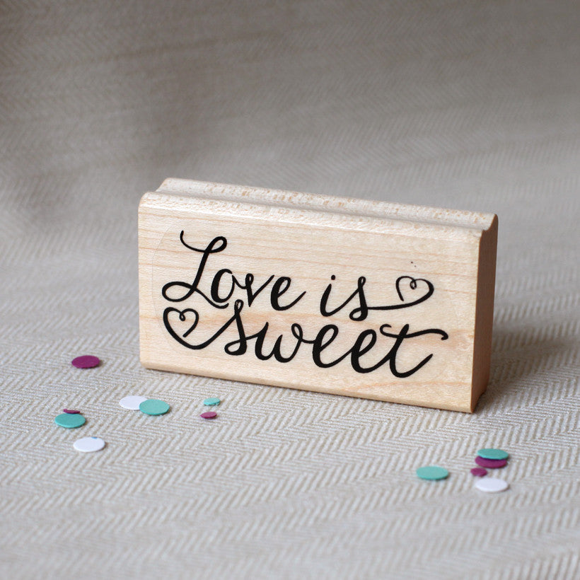 love is sweet favor stamp