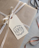 Made by Santa Gift Tag Stamp - Self Inking or Wood