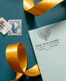 Menorah Heart Hanhanukkah Address Stamp