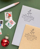 Mistletoe Christmas Address Stamp
