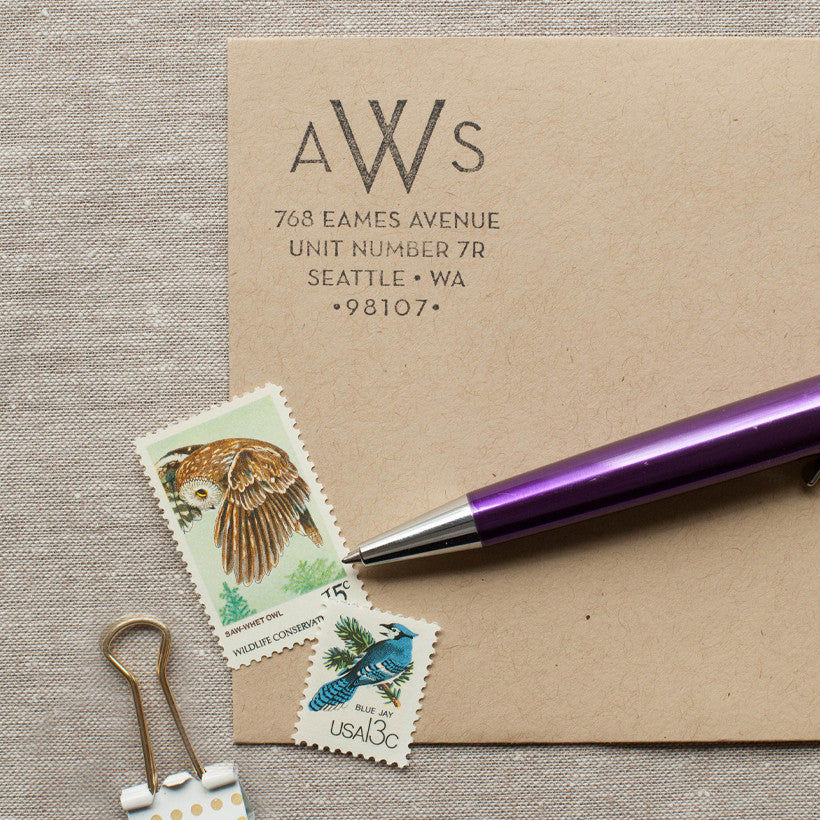 Modern Monogram - Self-inking Stamp