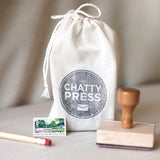 adorable stamp packaging for easy gift giving from the chatty press