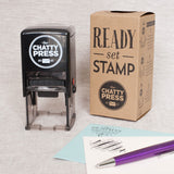 Library Bookplate - Self-inking Stamp