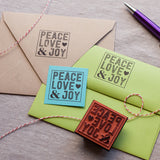 Peace, Love & Joy - Holiday Address Stamp