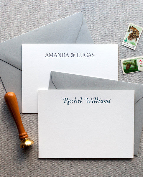 Personalized Letterpress Notecards - Name