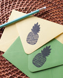 Pineapple Silhouette Address Stamp