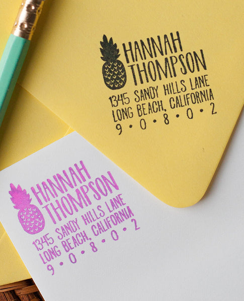 Pineapple Return Address Stamp