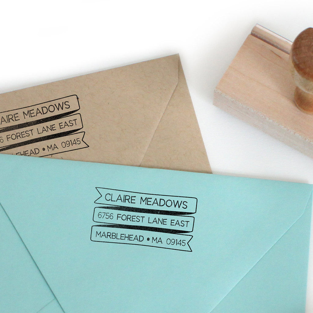 Ribbon Address Stamp