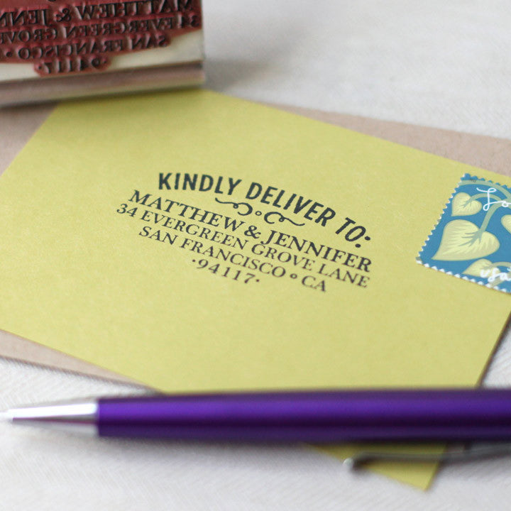 RSVP Woodtype Address Stamp