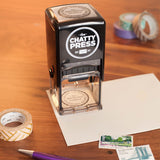 Round Badge Self-inking Stamp
