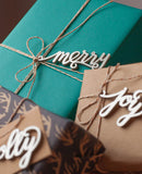 silver acrylic christmas holiday gift tags and bakers twine from peppersprouts