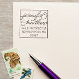 Boxy Script - Self-inking Stamp