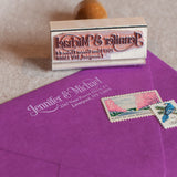 Serif & Swirls Address Stamp