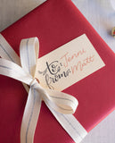 Christmas Calligraphy To From Gift Tag Stamp