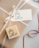 With Love Gift Tag Stamp