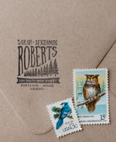 Forest Pine Trees Address Stamp