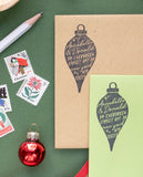 Vintage Christmas Ornament Address Stamp