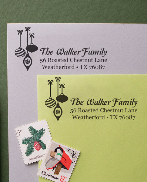 Christmas Ornament Address Stamp